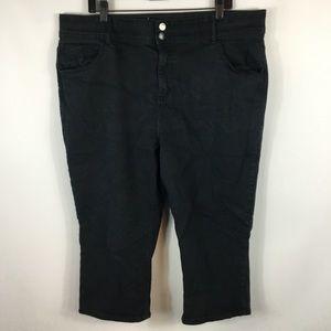 Lane Bryant Solid Black Capri Pants Plus Size 22